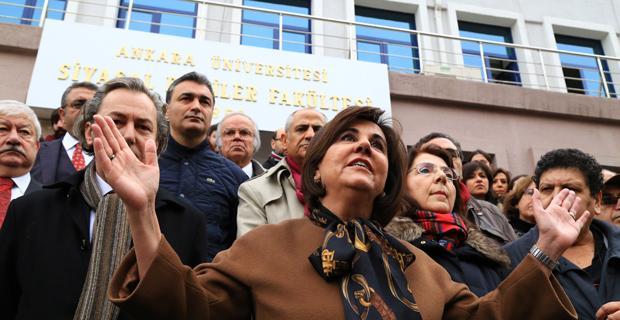 Ankara Üniversitesindeki ihraçlara tepki