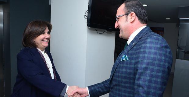 CHP'li Usluer'den AK Parti'ye ziyaret