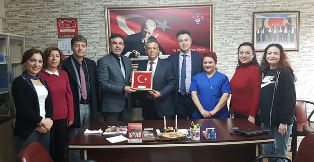 Tunga'dan Türk Sağlık Sen'e ziyaret