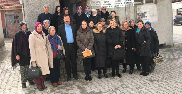 AK Partili kadınlar ilçelerde