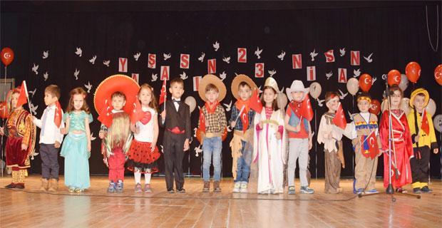 Çocuklar 23 Nisan'ı coşkuyla kutladı