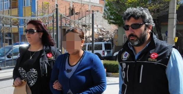 Uyuşturucu taciri kadın tutuklandı
