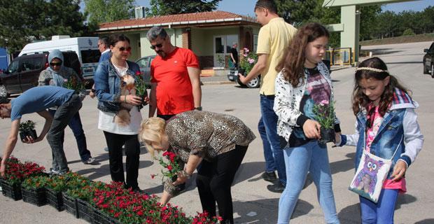 Ebediyete uğurladığımız annelere çiçek