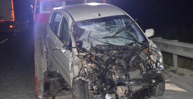 Kazada yaralanan ikiz kardeşlerden birinin durumu ağır