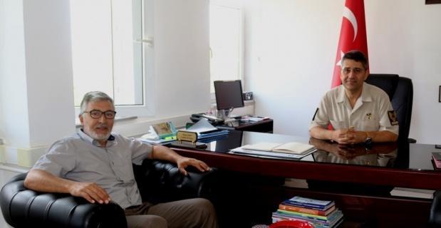 Başkan Bozkurt'tan İlçe Jandarma Komutanı İlhan'a hayırlı olsun ziyareti