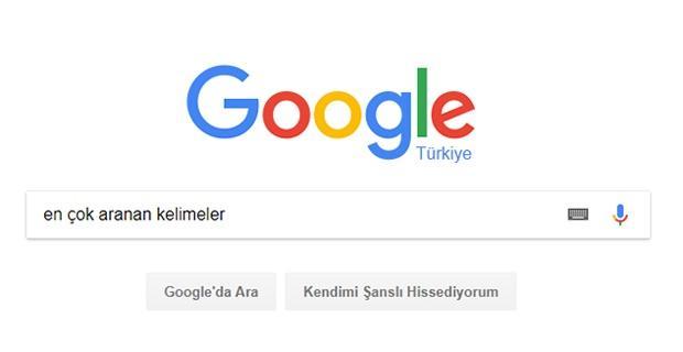 Google'da en çok neleri aradık..