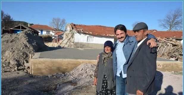 Çukurca'da evi yanan aileye yardım eli uzatıldı