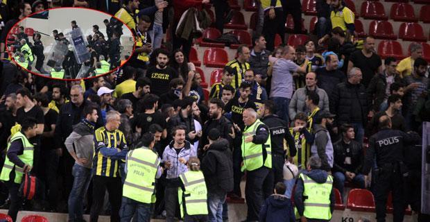 Fenerbahçe Doğuş-Eskişehir Basket maçında kavga