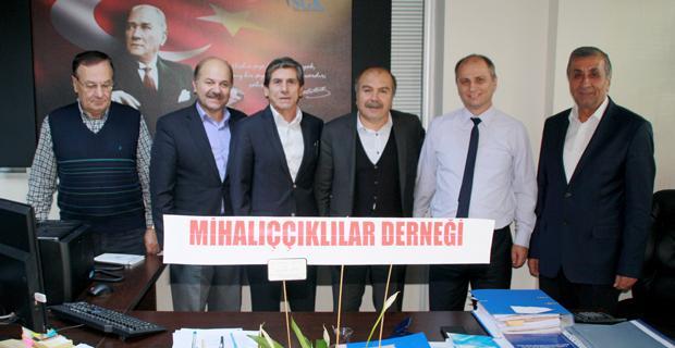 Mihalıççıklılardan SGK İl Müdür yardımcısı Eyvaz'a ziyaret