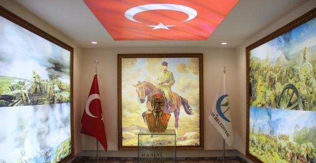 Çifteler Belediyesi'nde farklı bir Atatürk köşesi