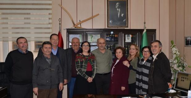 CHP'li meclis üyelerinden Ziraat Odası Başkanı Hüseyin Şen'e ziyaret