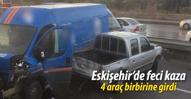 Eskişehir'de zincirleme trafik kaza