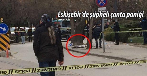 Eskişehir'de unutulan çanta paniğe neden oldu