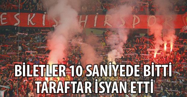 Eskişehirspor taraftarından bilet tepkisi