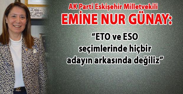 Günay, ETO ve ESO seçimleri ile ilgili net konuştu