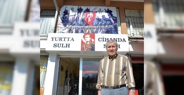 Kahraman Mehmetçiğe esnaftan destek