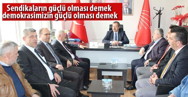Kristal-İş Genel Başkan'ı Özkar'ı ziyaret etti