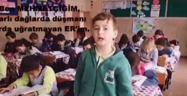 Miniklerden Mehmetçik için kısa film