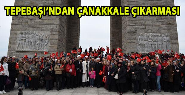 Tepebaşı, Büyük Zaferi Çanakkale'de andı