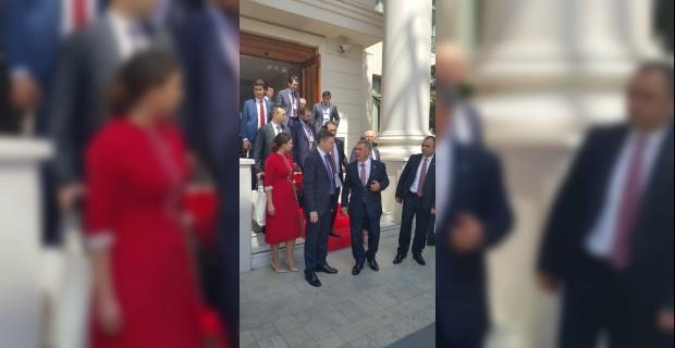 Eskişehir'deki Kazan Tatarları Cumhurbaşkanı Minnihanov ile görüştü