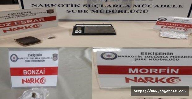 Eskişehir'de uyuşturucu operasyonu; 9 gözaltı