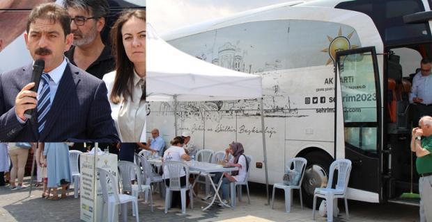 'Şehrim 2023 seçim Otobüsü' Eskişehir'de