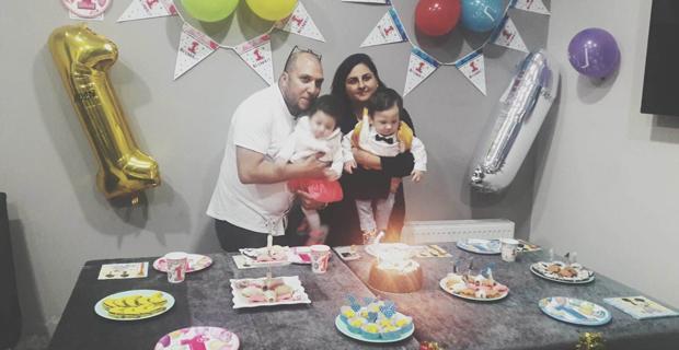 Aden ve Arden'in ilk yaşını kutladı