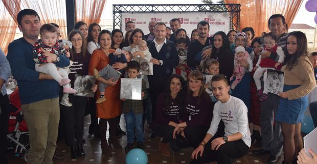 Özel Ümit'ten mucize bebeklere kutlama