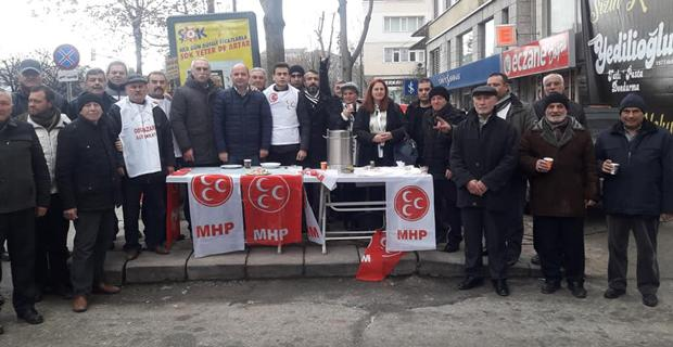 MHP'den salep ikramı
