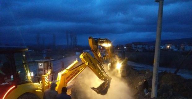 Simav'da Jeotermal ana hat arızası giderildi