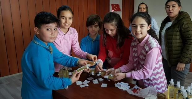 Adalet İlkokulu öğrencilerinden örnek çalışma