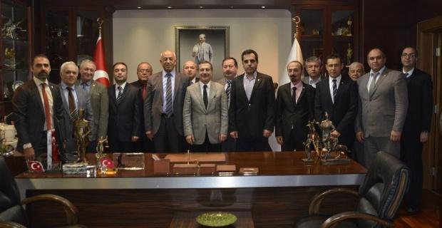 Demiryolcular Başkan Ataç'ı ziyaret etti