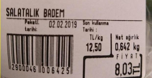Salatalık markette 12.5 TL