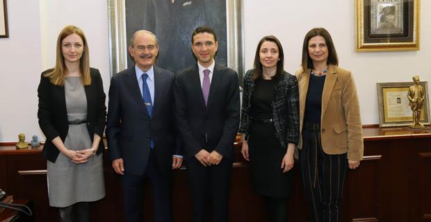Merkez Bankası yetkilileri Büyükerşen'i ziyaret etti