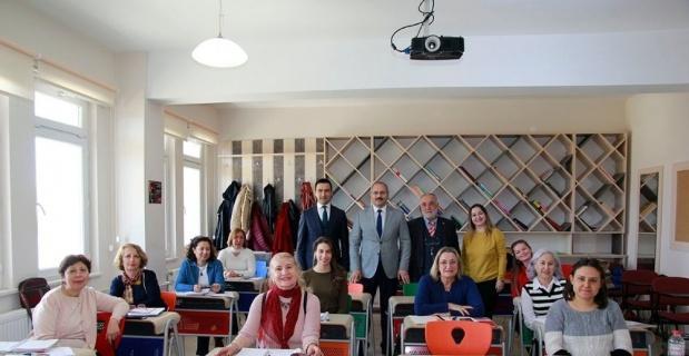 Bilgin ve Ceylan'dan Halk Eğitim Merkezine ziyaret