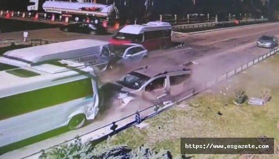 Eskişehir'deki korkunç kaza kamerada