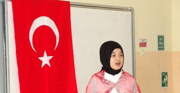 Hisarcık'ta İstiklal Marşı'nı Güzel Okuma yarışması