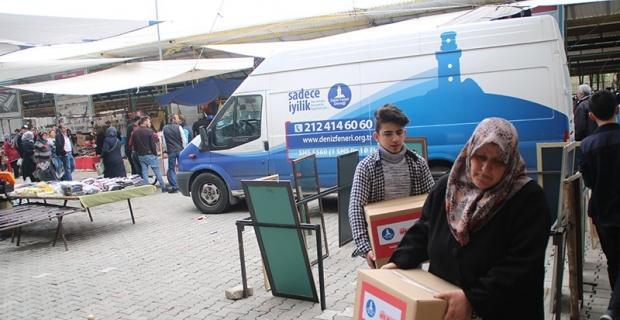 Gediz'de 35 aileye gıda yardımı