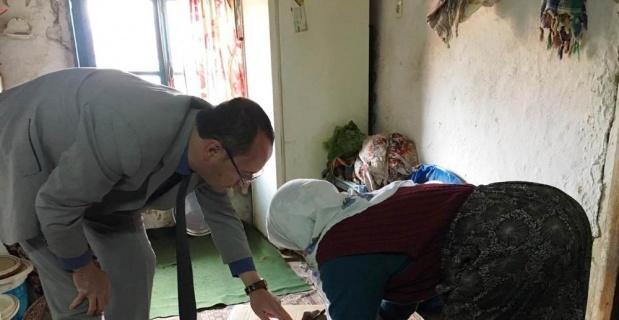 Hisarcık'ta 30 aileye gıda yardımı