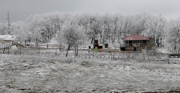 Kar yağışı Eskişehir'de görsel şölen oluşturdu