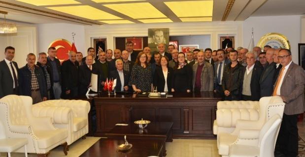 Muhtarlardan Başkan Bakkalcıoğlu'na ziyaret