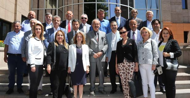 Meclis üyeleri Büyükerşen'i ziyaret etti