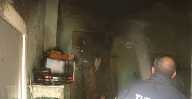 Buzdolabı yangına sebep oldu