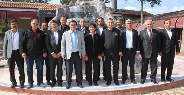 Gündoğan, mahalle muhtarları ile bir araya geldi