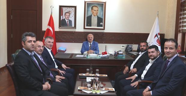 Vali Çakacak,  Genel Başkan Yılancı'yı Kabul Etti