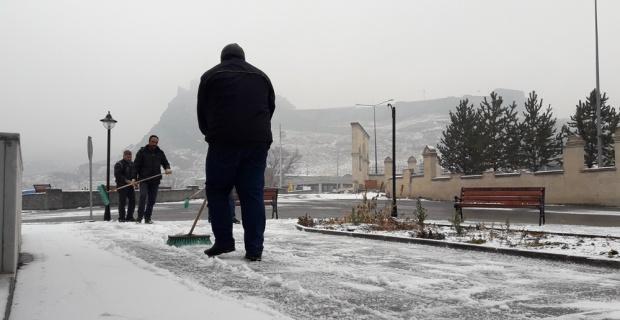 Kars'ta kar manzaraları
