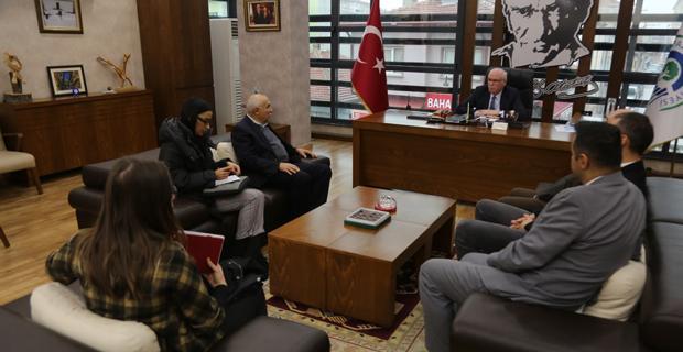 Komisyondan Başkan Kurt'a ziyaret