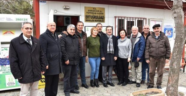 Başkan Ataç, mahalle muhtarlarına ziyaretlerini sürdürüyor