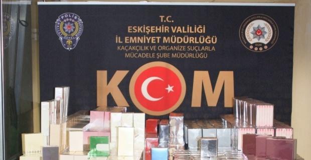 Kaçak parfüm yakalandı