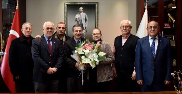 ETİ emeklilerinden Ataç'a ziyaret